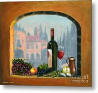 Tuscan Arch Wine Grape Feast Painting by Italian Art
