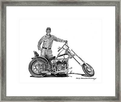 Strokers 1948 Harley Wla Drawing by Jack Pumphrey