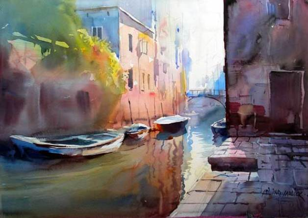 Milind Mulick Watercolor Paintings - Fine Art Blogger