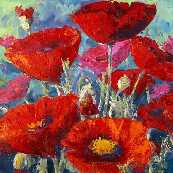 Acrylic Flower Paintings