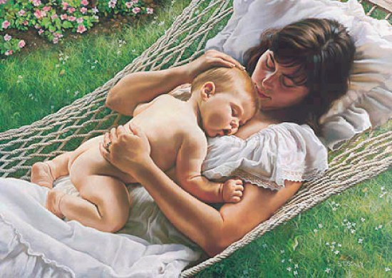 baby-mom-painting