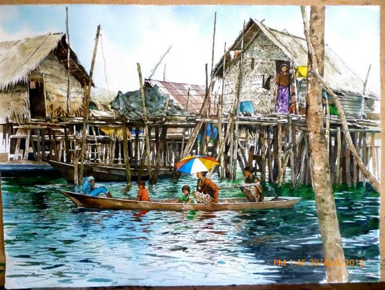 Watercolor Paintings by Malaysian Artist Yong Look Lam