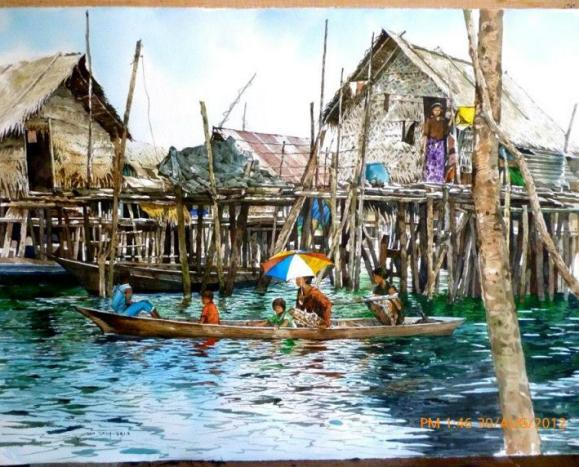 watercolor paintings of Yong Look Lam