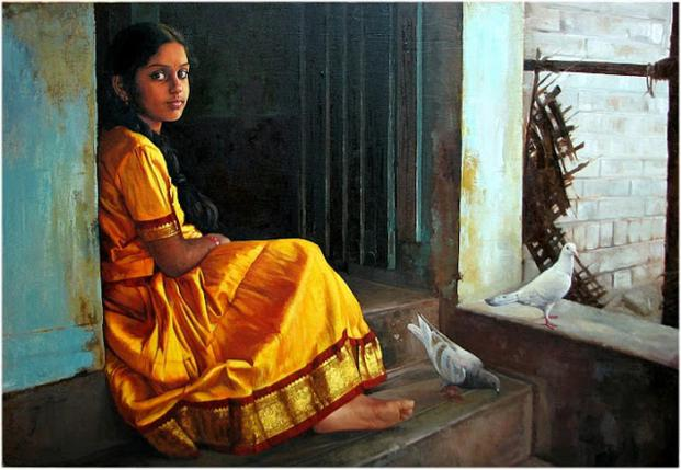 tamil-girl-paintings