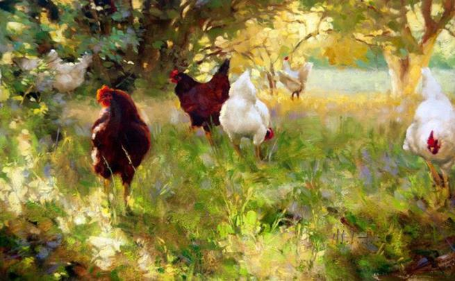 hen-paintings