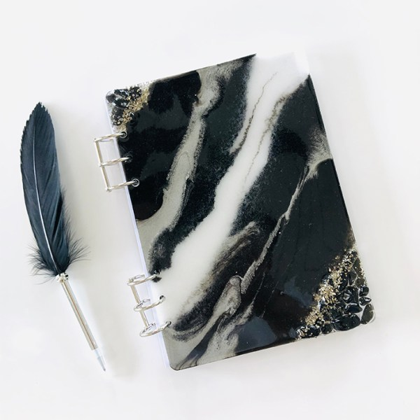 black and white obsidian journal