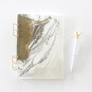 white and gold journal