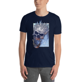 F-2237-gildan-64000 - Colorful human skull with ice spikes - Short-Sleeve Unisex T-Shirt