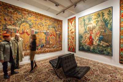 Fine Arts Paris 2019: tapestries on Chevalier Gallery's stand