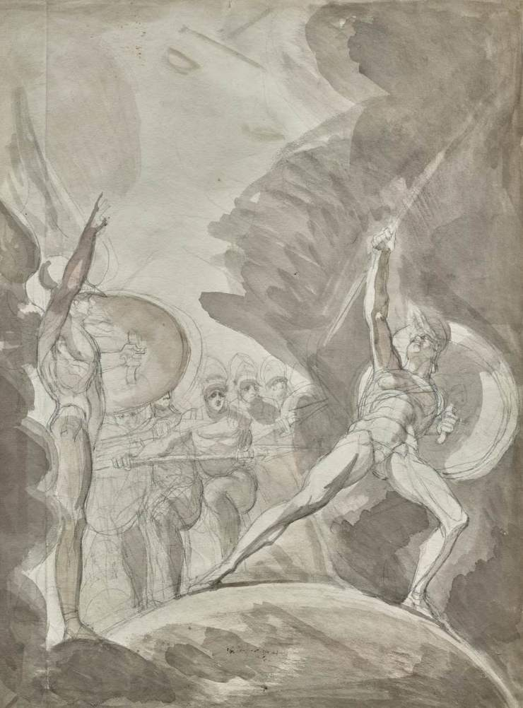 ERIC COATALEM, Henry FUSELI, The Psychostasis of Achilles and Memnon