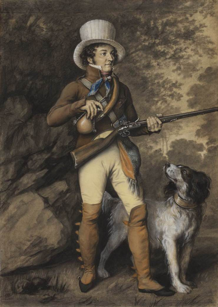 W. M. Brady & Co., Julien-Leopold, dit Jules BOILLY, Portrait of a Hunter and his Dog