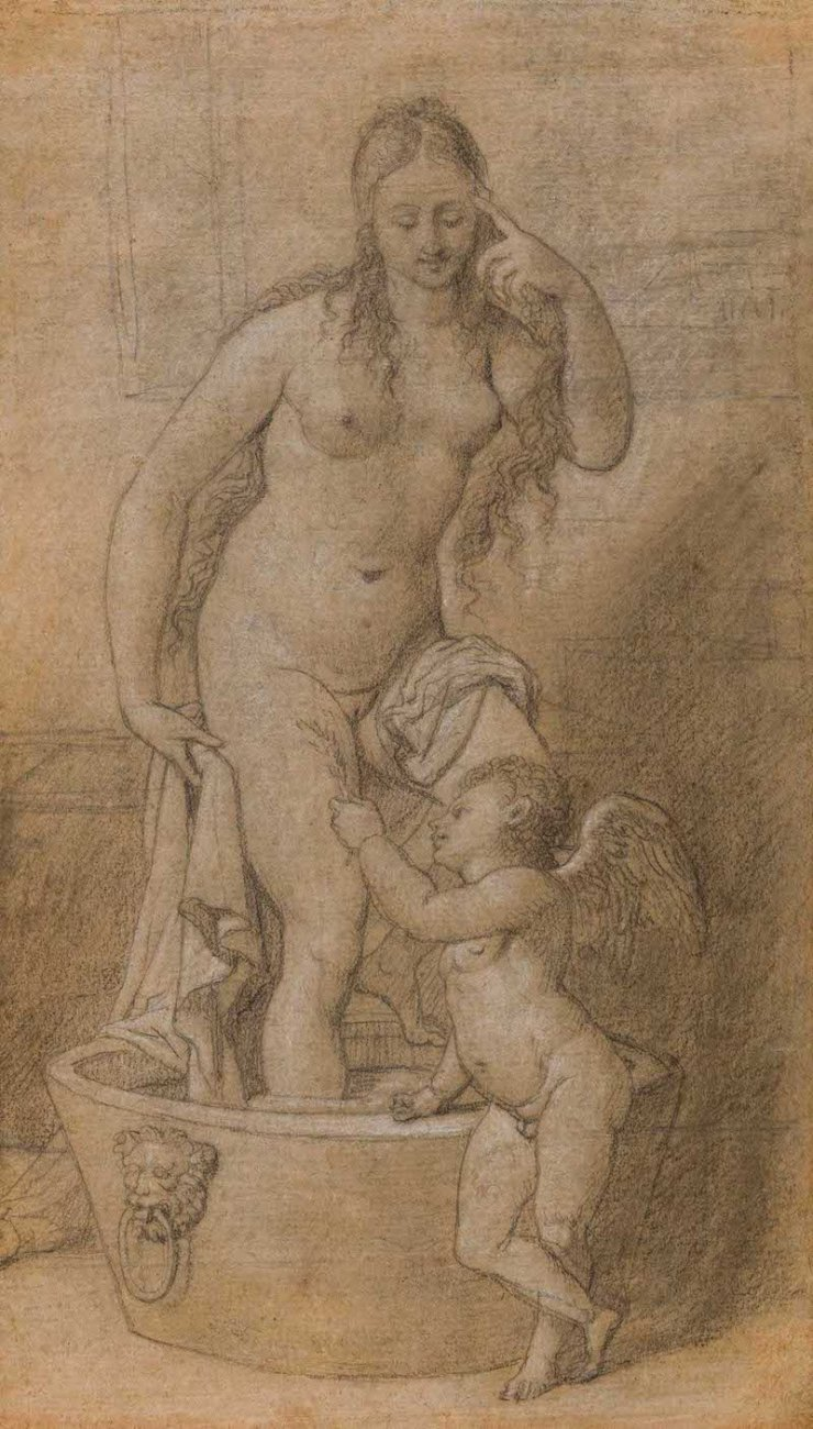 ONNO VAN SEGGELEN, Pierre-Nolasque BERGERET, The preparatory drawing to the litho Venus & Cupidon