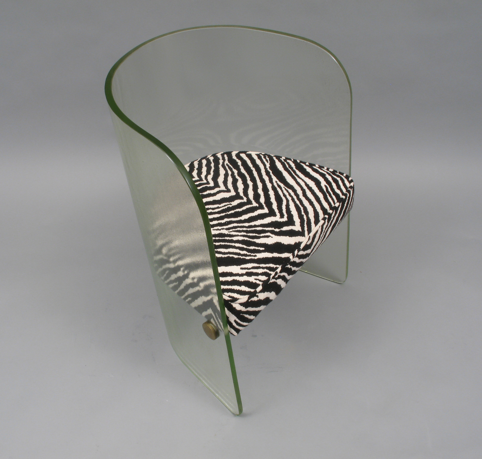Glass Chair Upholstered Glass Chair Conservation Talking Objects
