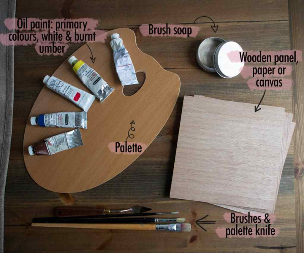 oil painting for beginners: supplies