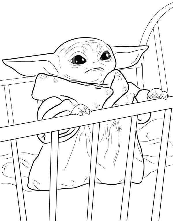 Free Baby Yoda Coloring Pages : coloring, pages, Printable, Coloring, Pages