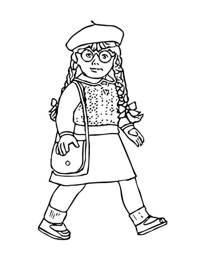 American Girl Doll Coloring Pages : american, coloring, pages, Printable, American, Coloring, Pages