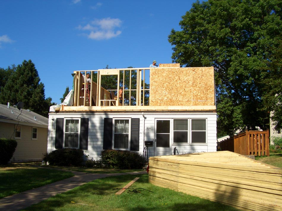 Cost To Add 2nd Story Addition To 1.5 Story House ~$125K, Residing, 3  Bdrms, Full Bath