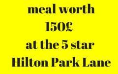 Win Three course Dinner Hilton London Park lane Fine dining Indian Magazine