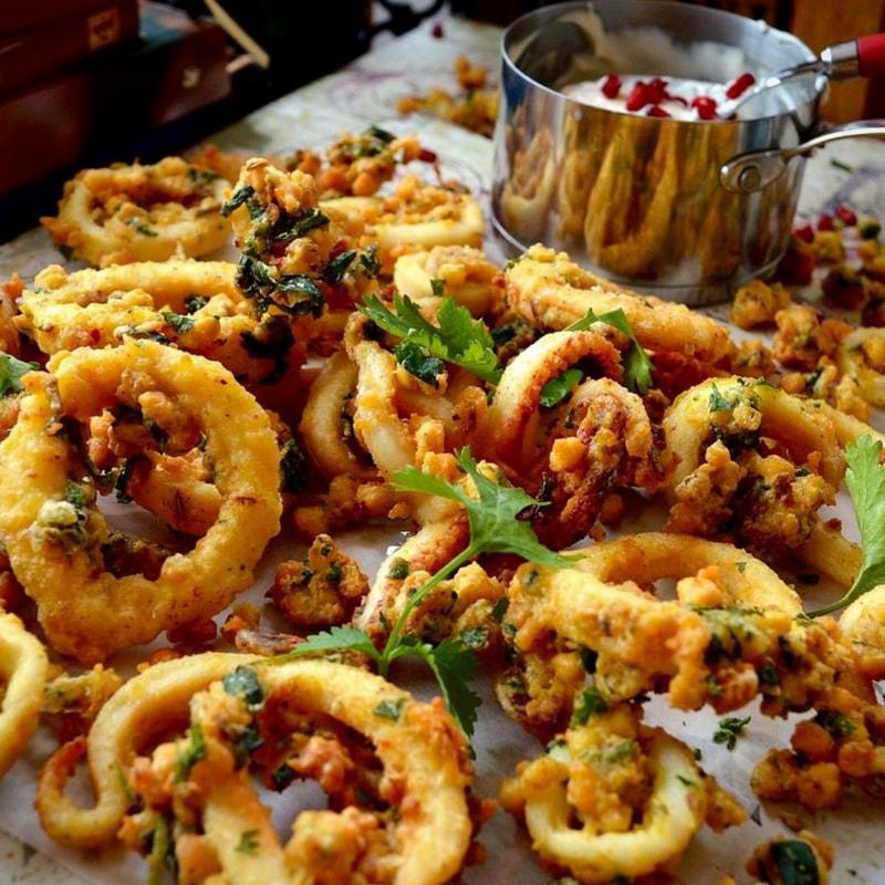 calamari Anjula Devi Food consultant writer interview