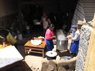 A village-sized steaming pot.