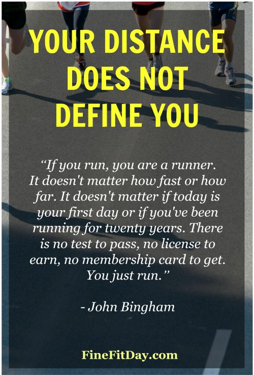 Your distance does not define you. Why every runner deserves respect, regardless of the distance they run or race.