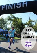 Fit Mama Friday - Meet Angie. A running mom of three small children, Angie still found time to train for the Chicago Marathon last year. Find out how this busy SAHM managed her time to workout and get her marathon training done.