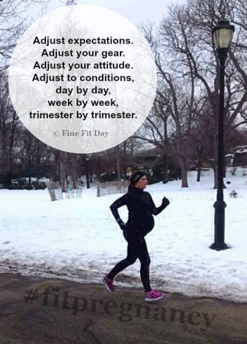 Running Tips -  Running Through Pregnancy. Tips and tricks for running during pregnancy, from dealing with expectations, gear, training, frustrations, a changing body and hormones. Plus, practical tips on ways to make pregnant running a more comfortable, enjoyable experience!