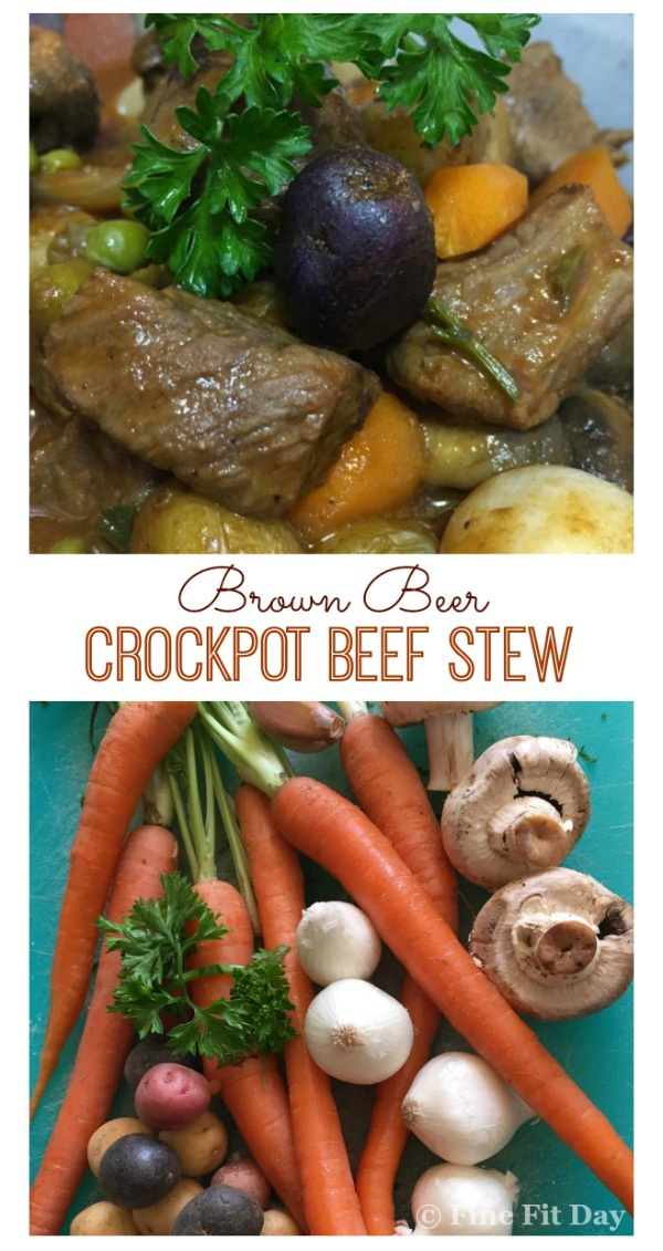 Brown Beer Crockpot Beef Stew - With a little prep work, this delicious beef stew recipe finishes beautifully in the slow cooker. Full of flavor, full of veggies and super tender, this is a family favorite!