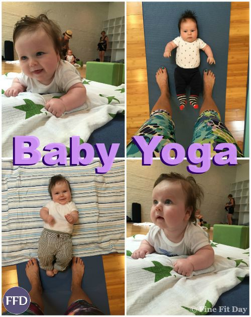 Baby and Me Yoga. Postnatal yoga - one of the few classes you can sign up for that you get as much benefit from as your child! Find out the basics of what goes on in a baby yoga class, the benefits of yoga for babies and children and how to make your yoga practice a bonding experience as a new mom with a baby.
