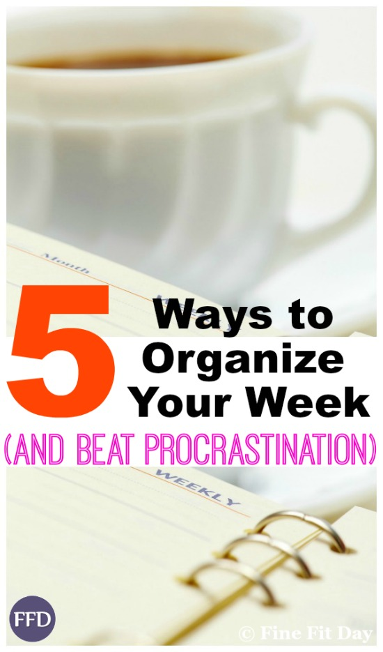 5 Ways to Organize Your Week (and beat procrastination). Whether you have a big deadline approaching, or you're just looking for a more organized approach to life, try these 5 methods to bring some order into your week and get stuff done!