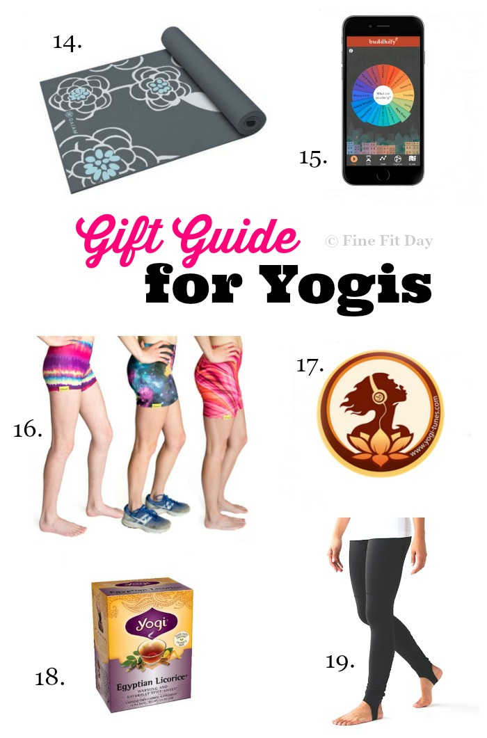 Gift Guide for Yogis - If you know someone who loves yoga, they will love a gift idea from this list! Whether it's for the holidays, a birthday, or a just because present, the om-lover in your life will appreciate these gifts!   yoga gifts   namaste  