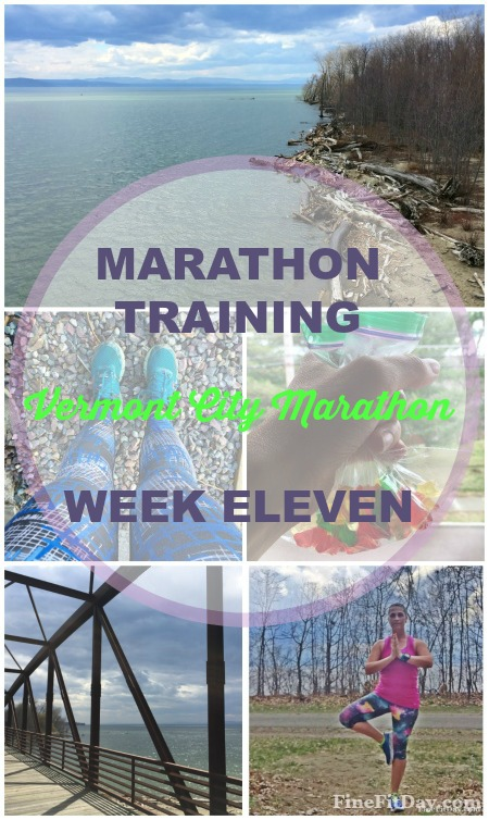 Vermont City Marathon Training - Week 11. Training log with workouts, goals and hopes for the VCM on May 29, 2016! Follow along to see if this mother runner can come back strong with a PR after her second child.