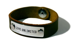 Product Image - Live Unlimited - brown wristband