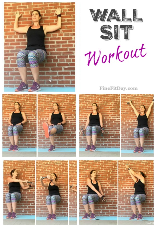Wall Sit Challenge Wall Sit Workout - Fin...