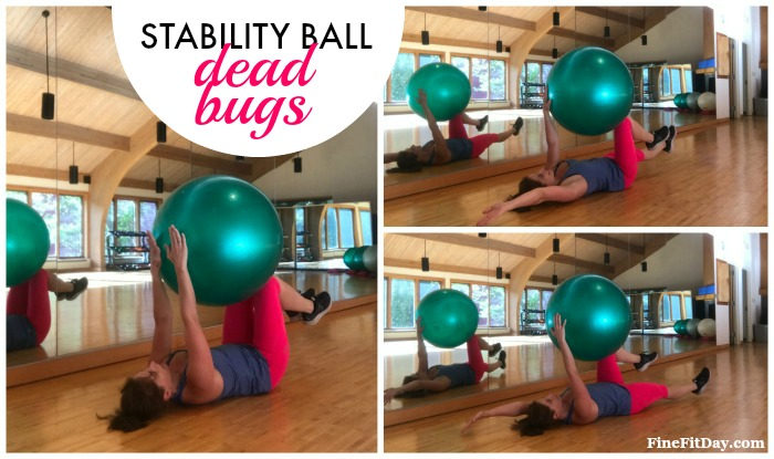 Try this full body stability ball workout that works on strength, balance and core! Three circuits of challenging exercises all using a stability exercise ball.