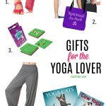 Gift guide for yoga lovers - the best gifts for yogis. This yoga gift guide has props, accessories, clothes, jewelry, unusual gifts and more!
