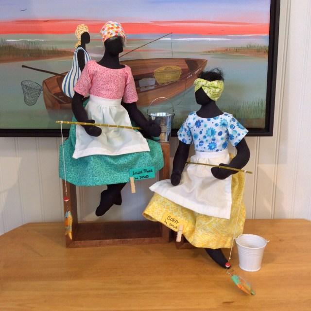DMcB original Soft Sculpture Gullah Dolls, Lillie Rose and Cora