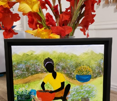 Happy Afternoon – Framed Canvas