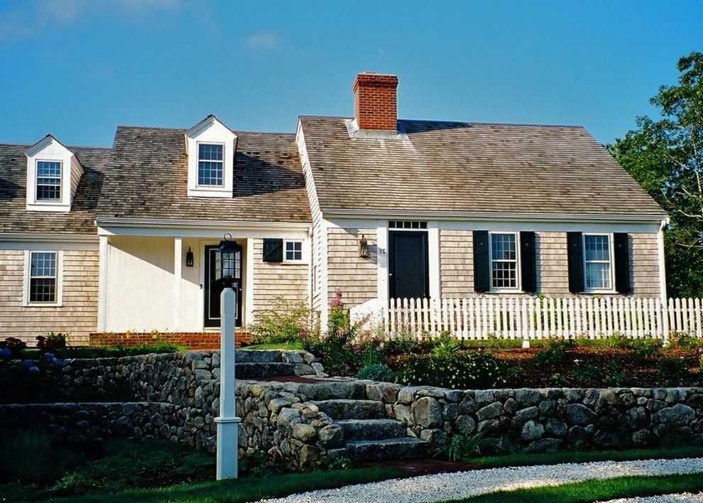 Cape Cod Lumber Traditional Exterior Also Brick Chimney