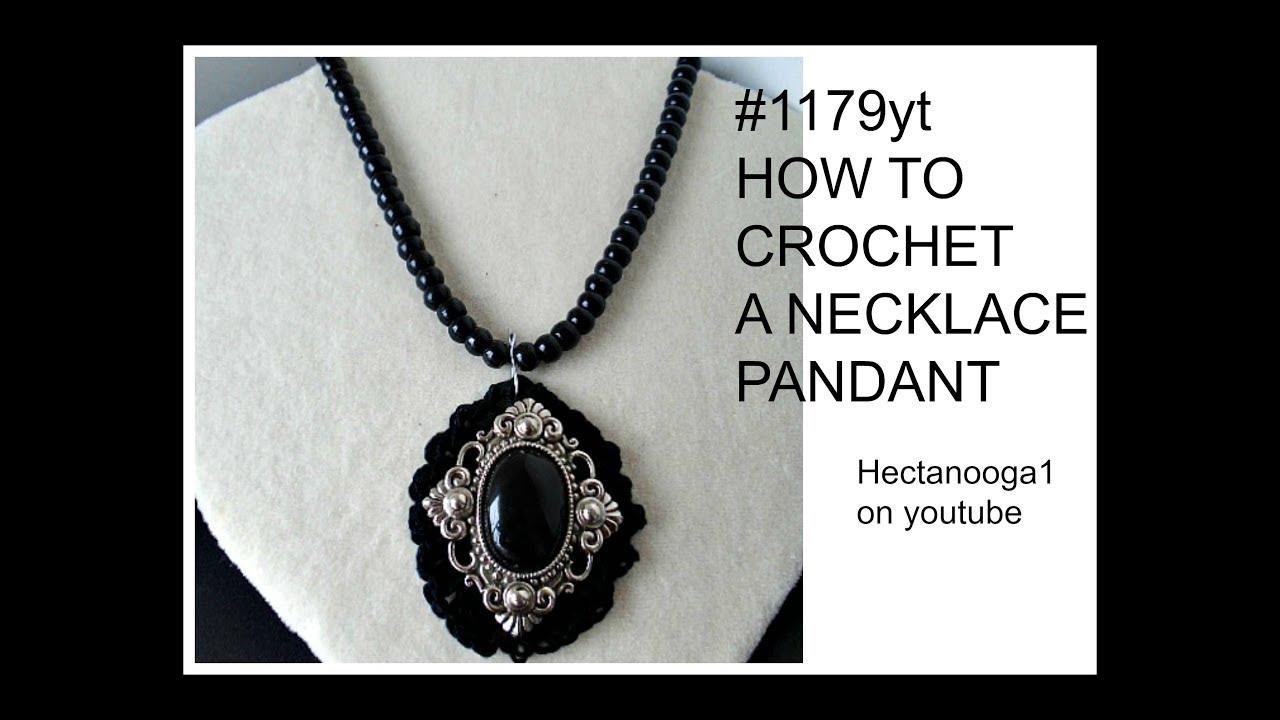 maxresdefault 63 - CROCHET, Black Pendant- crochet jewelry, jewellery, jewelery,