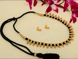 sddefault 17 - Gorgeous 22k Gold Black  Thread Necklace || Latest South Indian Jewellery