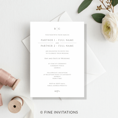 elegant wedding invitations australia