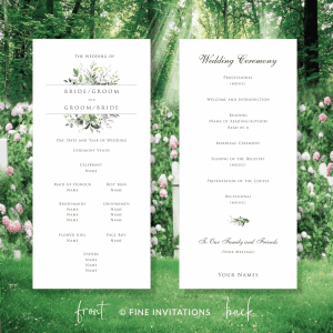 foliage wedding ceremony program australia