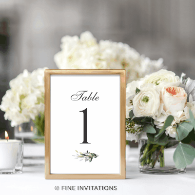 greenery wedding table numbers online