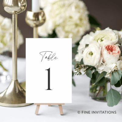 wedding table numbers online