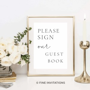 guest book sign for wedding