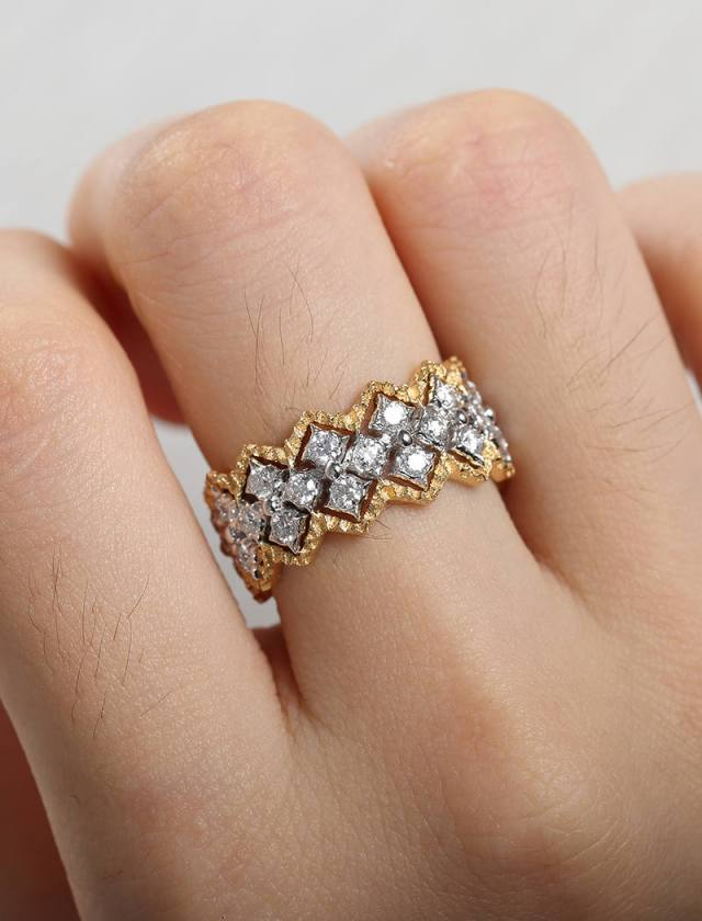 Vintage Art Deco Alternative Engagement Ring Wedding Band Women White Gold Yellow Gold Unique Wedding Ring Antique Delicate Eternity Band Fine Jewelry Ideas