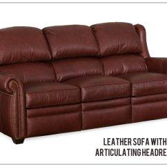 Leather Sofa Recliner Furniture Produk Cina Reclining Articulating Headrest Sofas Recliners