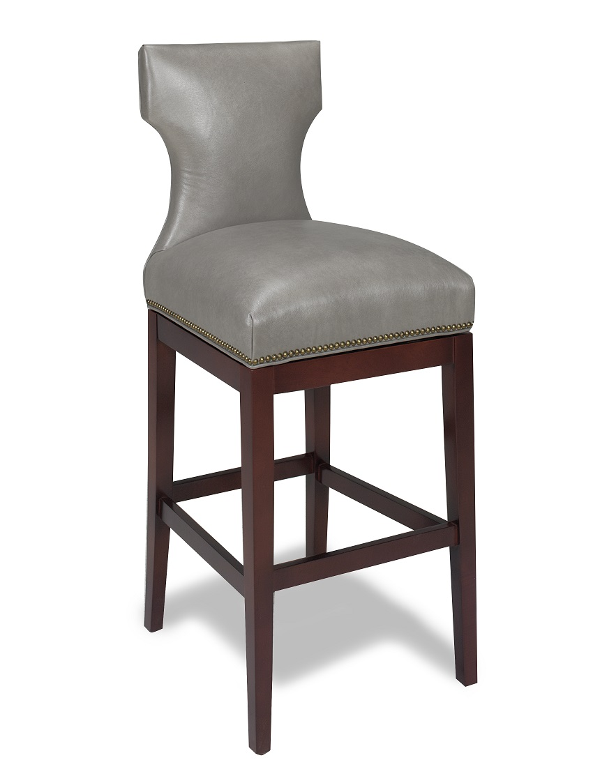 Leather Bar Stools : Karma Swivel Leather Bar Stool