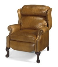 Leather Recliners : Oversize Ball in Claw Wing Chair ...